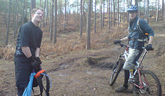 Swinley Forest - Trail riding - 2008 January - Mountain Biking