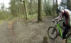 Aston Hill - Off camber slip sliding - 2012 April - Mountain Biking