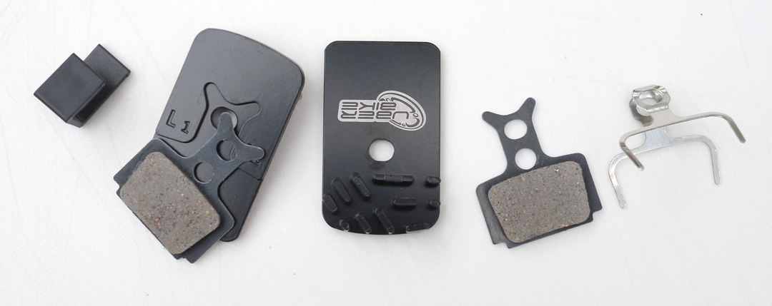 Uberbike Finned Brake Pads Detail